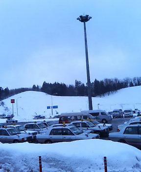 今日の秋田空港前