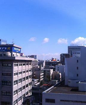 職場から見た仙台駅