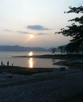 今夜は田沢湖で